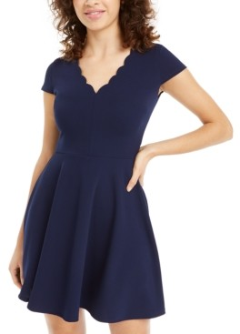 B. Darlin Juniors' Scalloped A-Line Dress