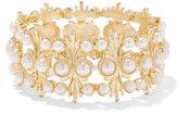 New York & Co. Eva Mendes Collection - Beaded Goldtone Bracelet