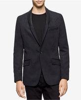 Calvin Klein Men's Slim-Fit Shawl-Lapel Faux Suede Blazer