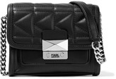 Karl Lagerfeld K/kuilted Mini Leather Shoulder Bag - Black