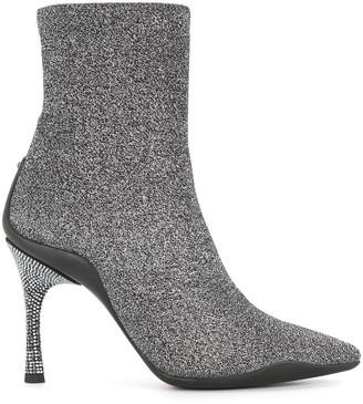 Rene Caovilla Glitter Detail Boots
