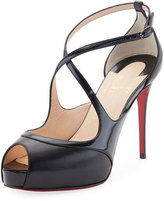 Christian Louboutin Mira Bella Leather Red Sole Sandal, Black