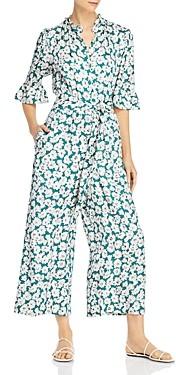 Rebecca Taylor Serene Flower Silk-Blend Jumpsuit