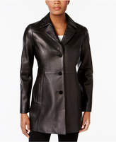 Anne Klein Leather Blazer Jacket
