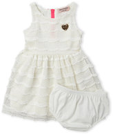 Juicy Couture Infant Girls) Two-Piece Pointelle Knit Dress & Bloomers Set