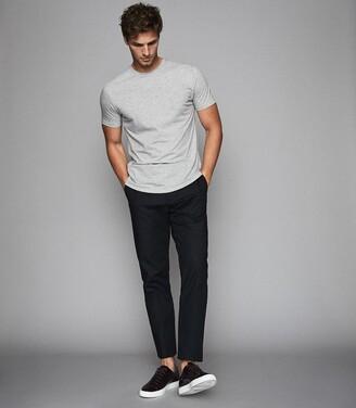 Reiss Bless - Crew Neck T-shirt in Grey Marl