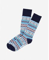 Express fair isle dress socks