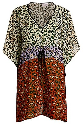 Calvin Klein Swim Animal-Print Caftan Coverup