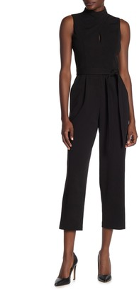Calvin Klein Twisted Mock Neck Keyhole Jumpsuit