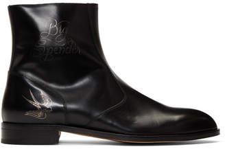 Paul Smith by Mark Mahoney Black Tattoo Pembury Chelsea Boots