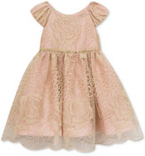 Rare Editions Metallic Lace Party Dress, Little Girls (4-6X)