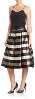 Eliza J Pleated Striped Ball Skirt