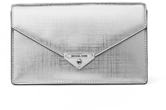 Michael Kors Grace Silver Crossbody Bag