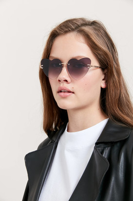 Urban Outfitters Candi Rimless Heart Sunglasses