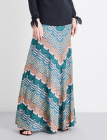 Missoni Chevron metallic-knit maxi skirt