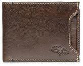 JACK MASON Jack Mason NFL Denver Broncos Stadium Leather Sliding 2-in-1 Wallet in Brown