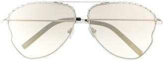 Matthew Williamson Chain-Embellished Aviator Sunglasses