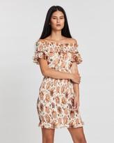 Shona Joy Baez Shirred Mini Dress