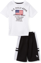 U.S. Polo Assn. White 'Athletic Department' Tee & Shorts - Infant Toddler & Boys
