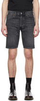 Levi's Levis Black Denim 501 Hemmed Shorts