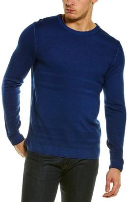 Raffi Pique Merino Wool Crewneck Sweater