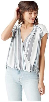 Splendid Shannon Surplice (Navy) Women's Clothing