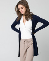 Le Château Textured Viscose Blend Open-Front Cardigan