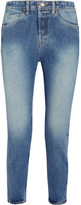 Bassike Cropped High-rise Straight-leg Jeans - Light denim