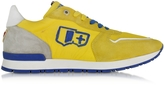 D'Acquasparta D'Acquasparta Botticelli Yellow Fabric and Suede Sneaker
