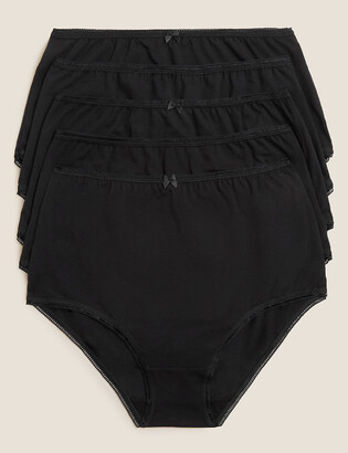 Marks and Spencer 5 Pack Cotton Lycra High Waisted Full Briefs