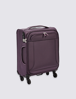 M&S Collection Cabin 4 Wheel Ultralight Soft Suitcase with Security Zip