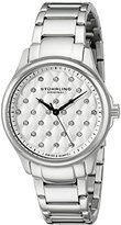 Stuhrling Original Women's Quartz Watch with White Dial Analogue Display and Silver Stainless Steel Bracelet 567.01