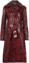 Rochas snakeskin coat