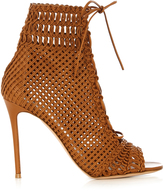 Gianvito Rossi Marnie woven-leather ankle boots