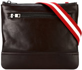 Bally striped strap messenger bag - men - Calf Leather/Cotton - One Size