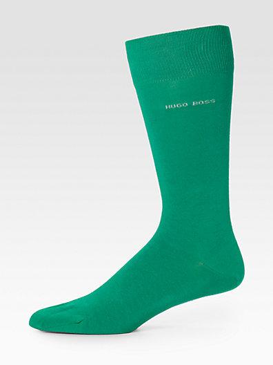 HUGO BOSS Solid Dress Socks