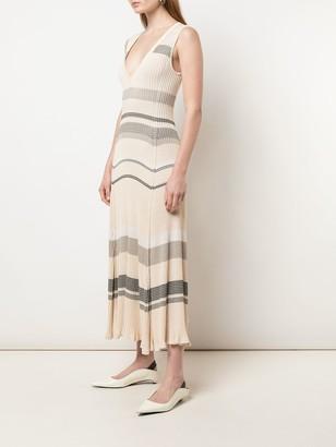Proenza Schouler Striped Sleeveless Knitted Dress