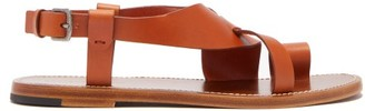 Bottega Veneta Leather Slingback Sandals - Womens - Tan