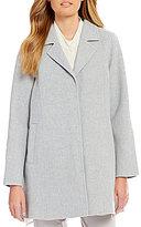 Eileen Fisher Notch Collar Swing Coat