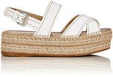Prada Women's Slingback Platform Espadrille Sandals-WHITE