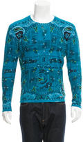 Galliano Patterned Scoop Neck Sweater