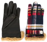 DSQUARED2 plaid gloves - kids - Cotton/Lamb Skin/Acrylic/other fibers - 16.5 cm