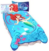 "Disney Princess Ariel the Little Mermaid Blanket Micro Raschel Throw 62"" x 90"" Twin / Full Size"