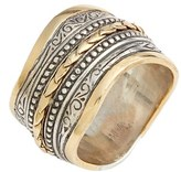 Konstantino Women's 'Hebe' Wavy Etched Band Ring