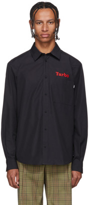 MSGM Black Turbo Shirt