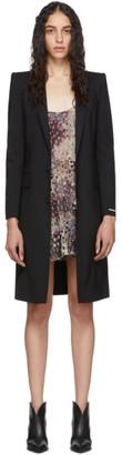 DSQUARED2 Black Wool Tropical Coat