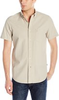 Nautica Men's Solid Seersucker Short Sleeve Shirt