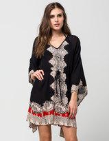 Angie Border Print Caftan Dress