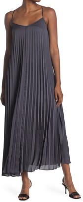 Club Monaco Strappy Pleated Maxi Dress