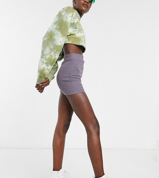 Collusion rib bootie short in grey